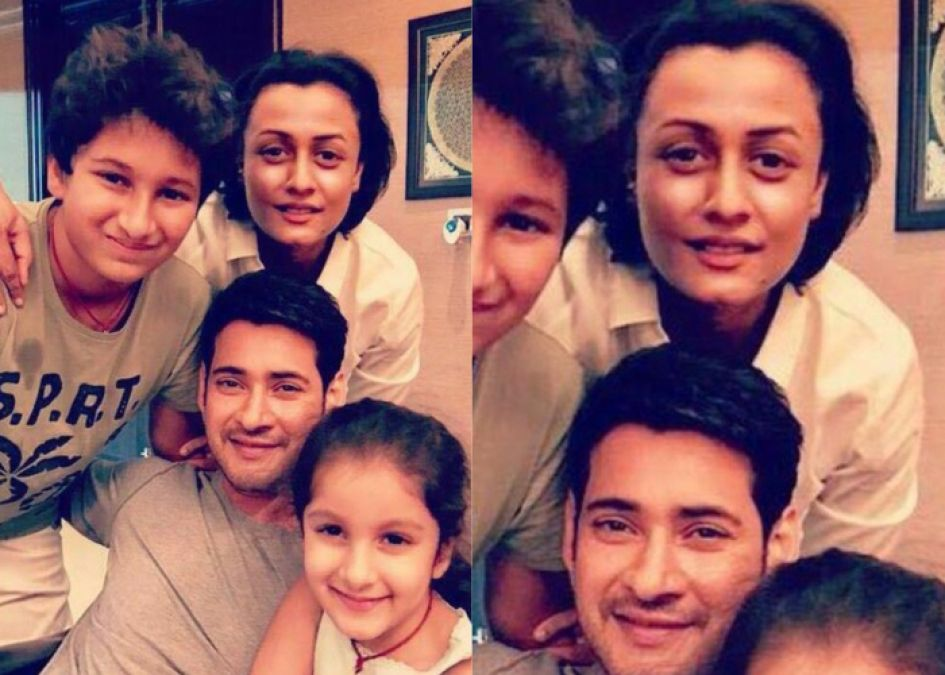 South sensation Mahesh Babu is a true fam man and these pics prove it all