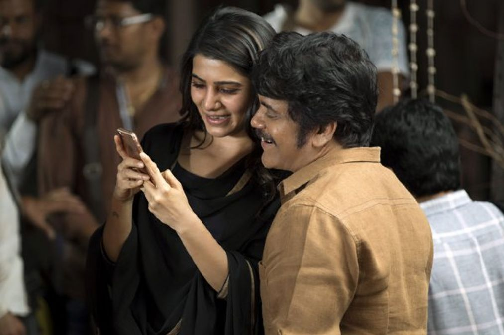 Pic Talk: King posted a pic with Samantha from 'Manmadhudu 2' sets