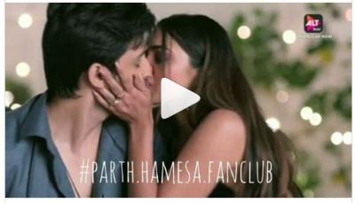 A web show Kehne Ko Humsafar Hain 2 fame Parth and Pooja Lip lick screen…video inside