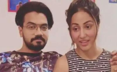 Lovebirds Hina Khan and Rocky Jaiswal share their naughty fantasies, check out video here