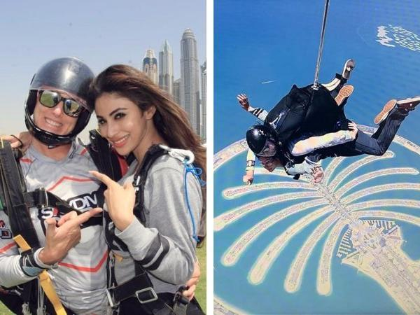 'special kind of idiot' Mouni Roy jumps off a plane