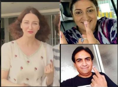 These TV celebs share pics direct from the festive of democracy…check pics inside
