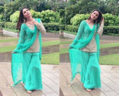 Eid al-Adha 2018: Hina Khan greets the fans in an emerald green and golden outfit