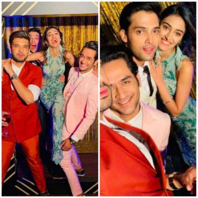 See pics : Parth Samthaan, Erica Fernandes & Vikas Gupta had gala time in retro party