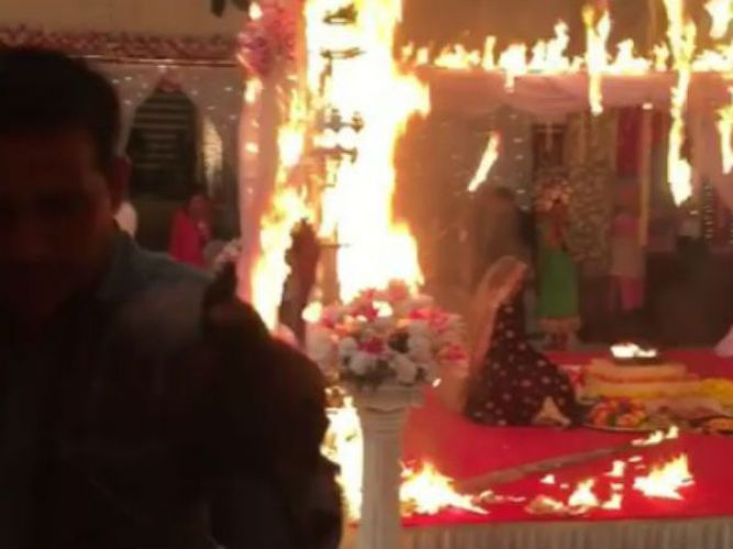 Fire broke out on the set of telly show 'Beyhadh'