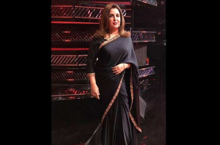 Farah Khan wore sari for first time on television