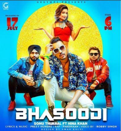 Hina Khan releases poster of Bhasoodi, her music debutant