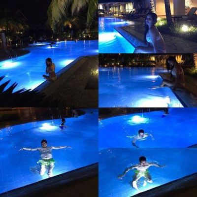 MonaLisa flaunts her curves in swimwear