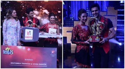Divek lifted the trophy of Nach Baliye season 8