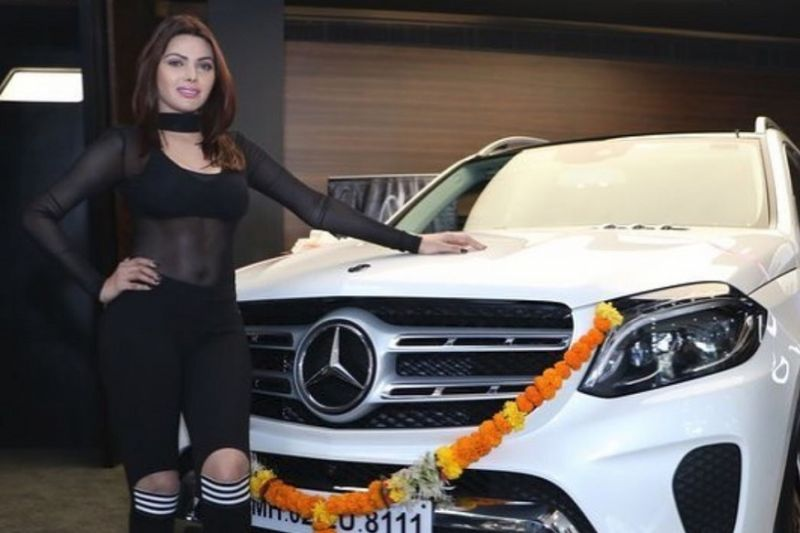 Pictures! Sherlyn Chopra bought her dream car home