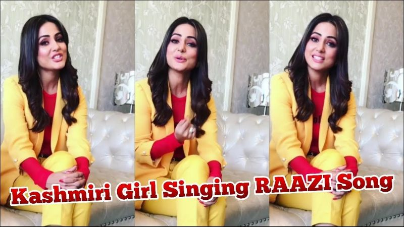 Watch! Hina Khan singing 'Dilbaro' from Raazi