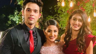 Hina Khan too happy to watch Parth-Erica's romantic video
