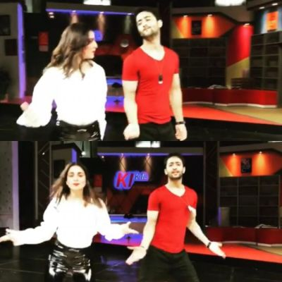 Watch! Shaheer Sheikh shaking little lumps with Shraddha Arya