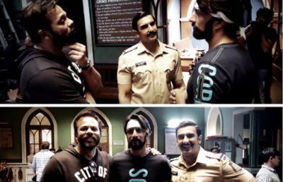 Simmba: Kichcha Sudeep gets warm welcome on Ranveer Singh and Rohit Shetty movie sets