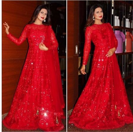 See pics: Divyanka Tripathi Dahiya slays in red attire