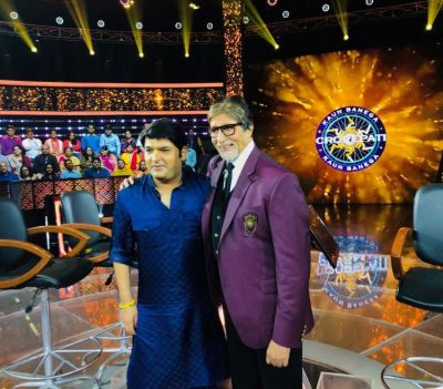 Kapil Sharma shoots for the grand finale of Kaun Banega Crorepati Season 10