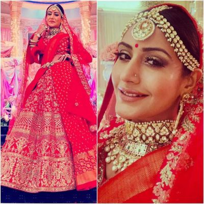 Surbhi Chandna is a happy bride in her last wedding for the show Ishqbaaaz