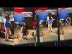 Video: Girl fell down on the Ramp while Walking!!