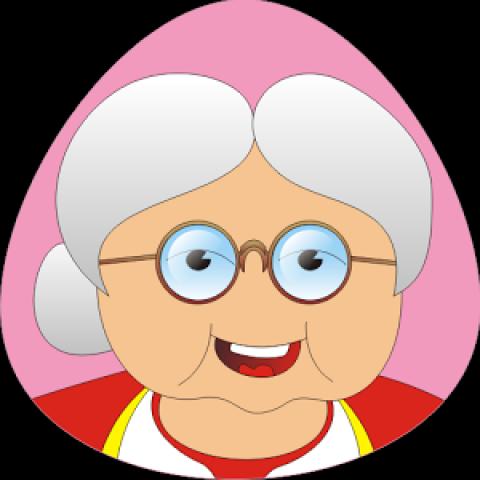 दादी का चेहरा