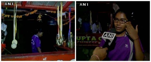 national level shooter Pushpa coerce to sell noddles