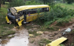 Picnic bus accident in Odisha; 1 killed and 10 injured