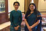 Myanmarese State Counsellor meets Maneka Gandhi