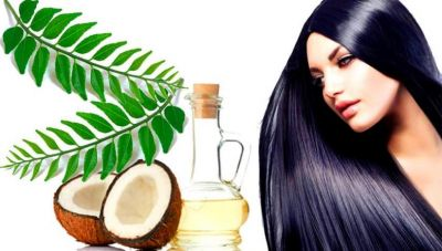 Coconut Oil and Curry Leaves for White Hair