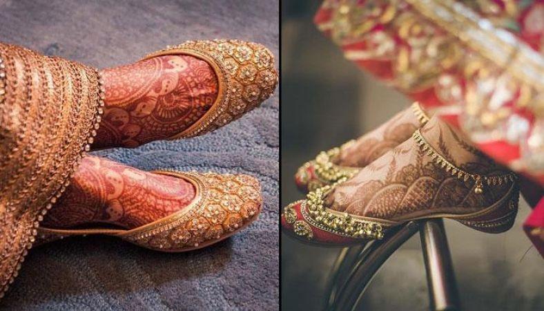 खूबसूरत लुक पाने के लिए ब्राइड जरूर ट्राई करें पंजाबी जूती