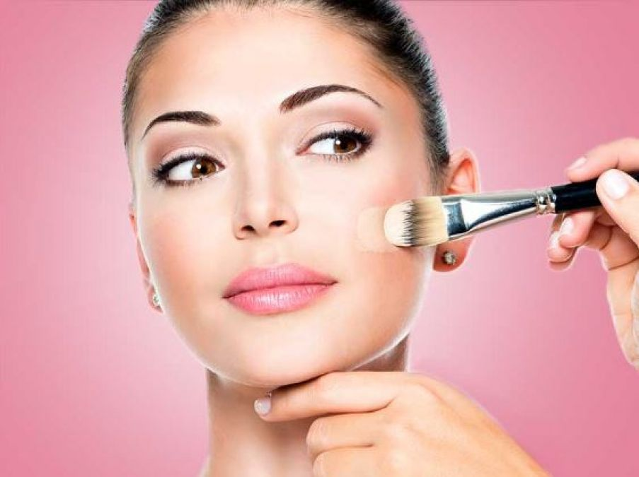 When applying excess foundations on the face, do this....