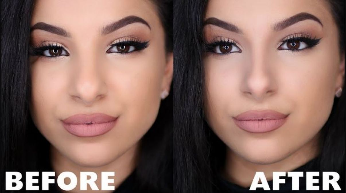 मेकअप के ज़रिये बना सकती हैं अपनी नाक को पतला