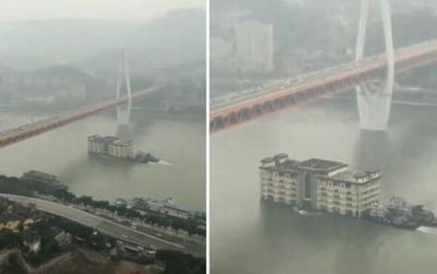 These 4-story buildings floating in the river, know the truth behind it
