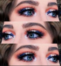 Blue Eye Shadows Will Give Attractive look At Wedding Time