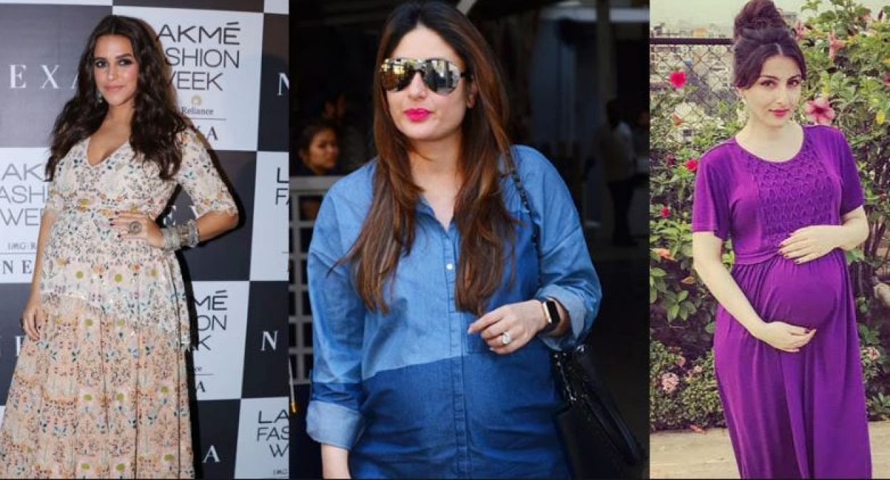 The Pregnant lady can also keep her look stylish in such ways