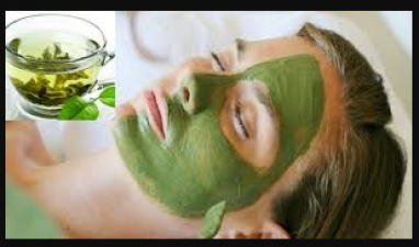 Get rid of sun tanning with green tea face pack