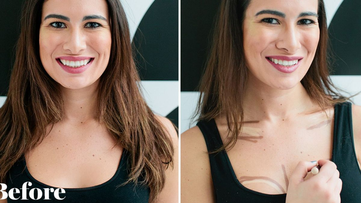 Girls taking help of makeup for perfect breast, learn how