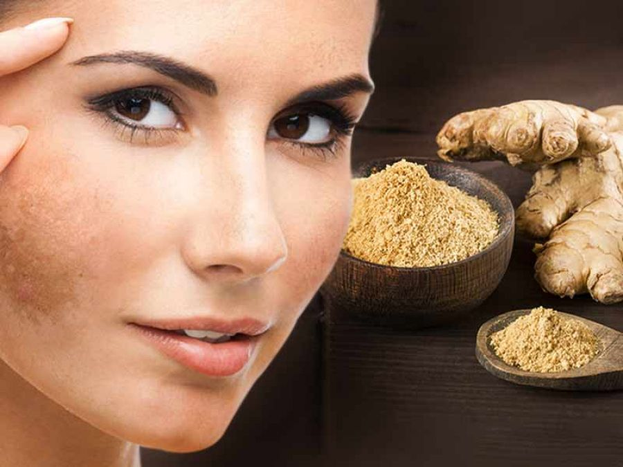 Use ginger to treat dark spots and acne scars
