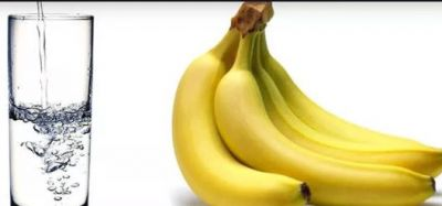 Eat a Banana and Drink Warm Water to Get Rid of Belly Fat