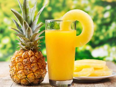 Pineapple juice is beneficial for the eyes