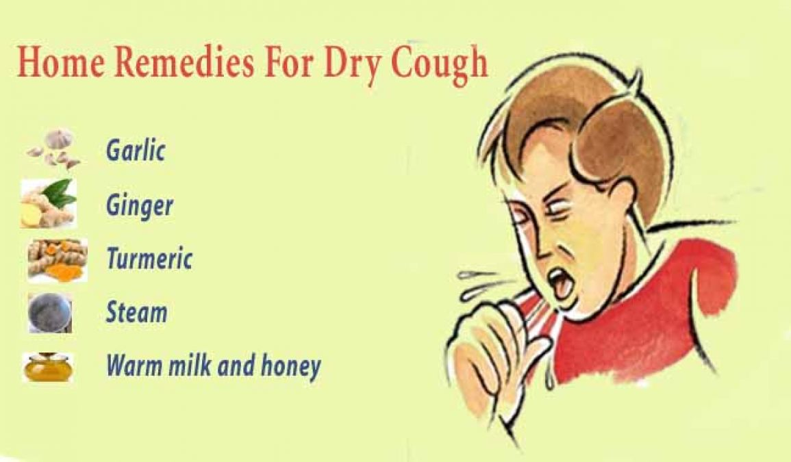 Try these home remedies to get rid of dry cough