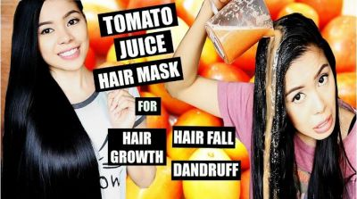 Apply tomato juice to the hair, will become silky