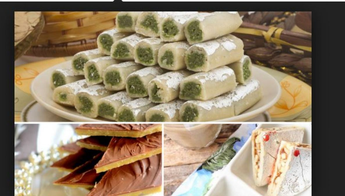 Make this special Cashew and Pistachio Sweets Rolls on Rakshabandhan