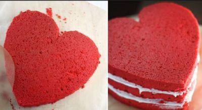 इस वेलेंटाइन डे को रोमांटिक बनाने के लिए अपने ख़ास को बनाकर खिलाए यह रेड केक