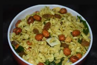 Make tasty Poha Chivda Namkeen recipe at home