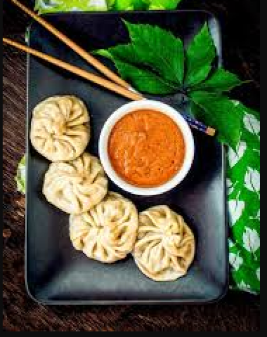 Recipe of Chilli Momos, Serve it with red chill sauce and Mayonnaise