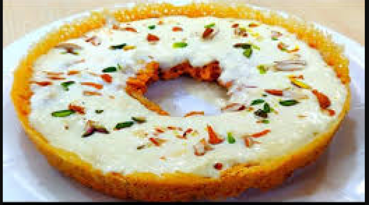 This tasty recipe of Malai Ghevar made during the times of happiness and