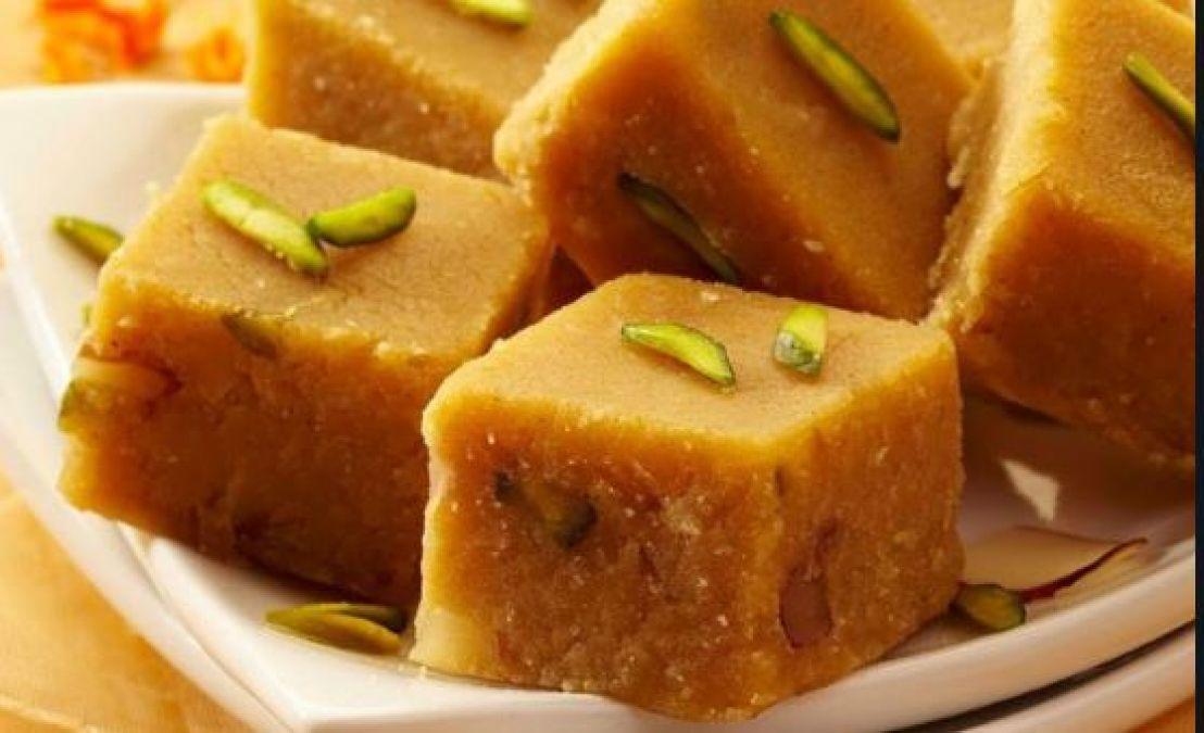 Recipe: Make Besan Ki  Barfi to please loard