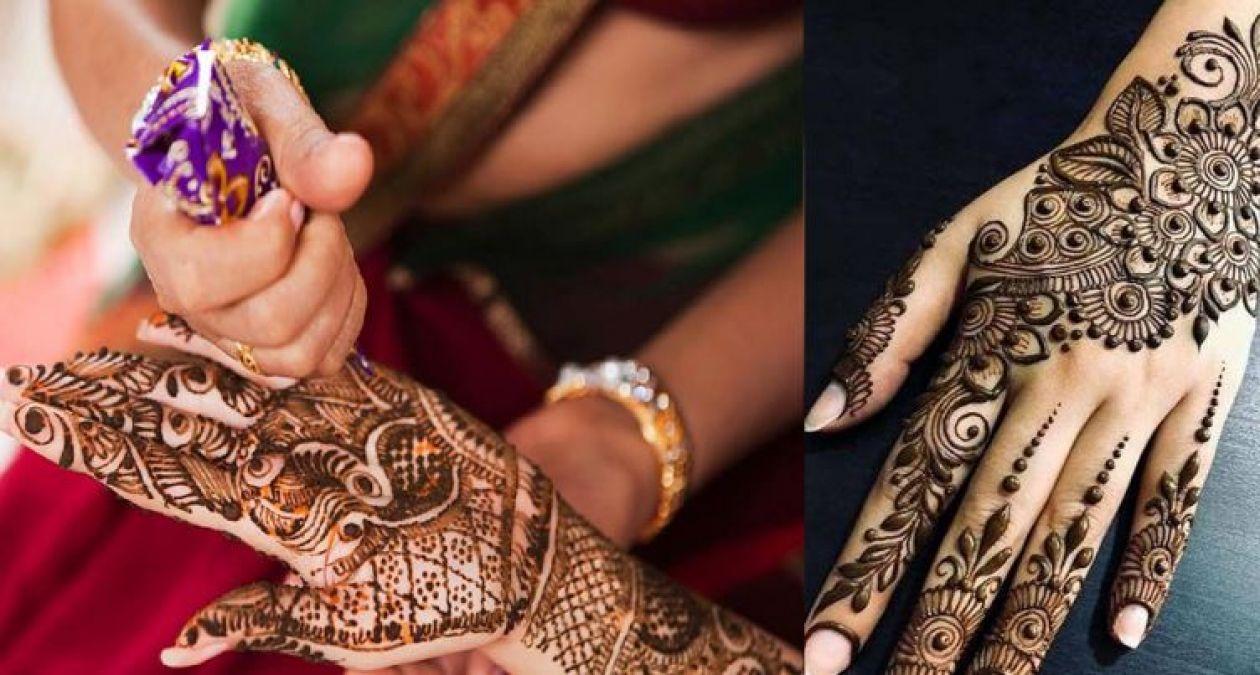 The latest designs of Mehndi for Teej