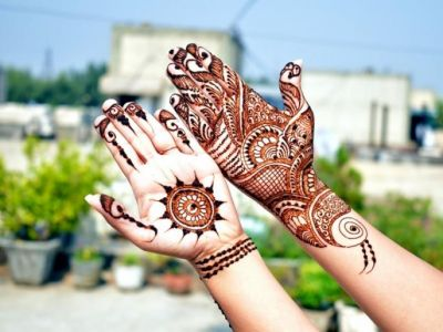 The latest designs of Mehndi for Teej