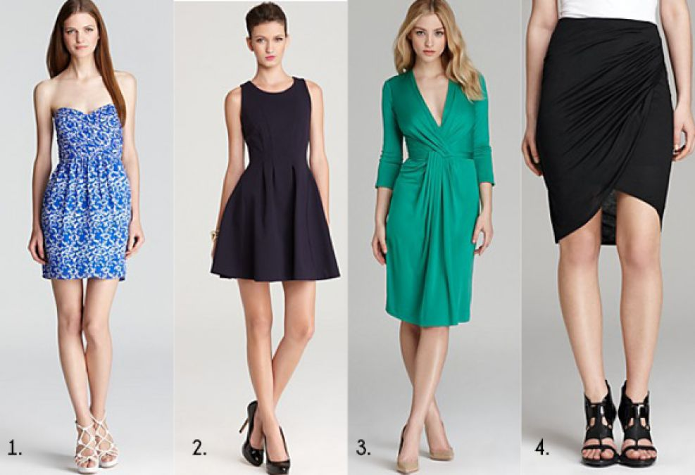 Women with overglass body shape look attractive in such dresses