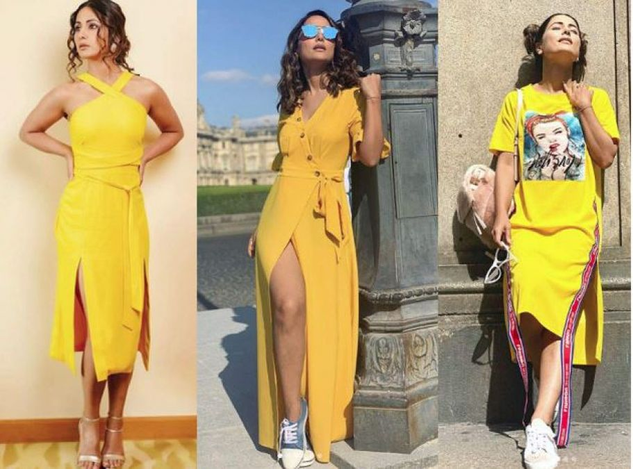 Try Hina Khan's Sunshine Color Outfit in Summer, get into Trend